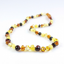 Collier d'ambre - bébé/enfant - Boules multicolor
