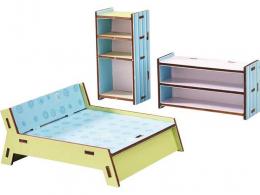 Chambre à coucher poupée - Little friends - Meubles maison de poupée - Haba