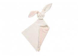 Doudou Bunny coton BIO White pink Nobodinoz