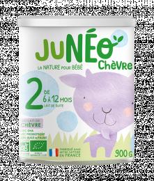Lait infantile de chèvre 2 ème âge 900gr Junéo