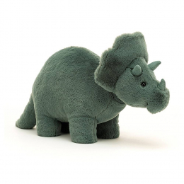 Doudou Peluche Fossilly Dinosaure Triceratops 17cm Jellycat