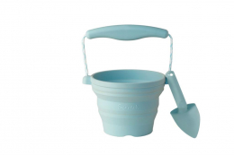 Seau de plage rétractable en silicone Duck egg blue Scrunch