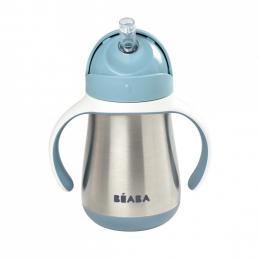Tasse paille en inox 250 ml Windy blue Beaba