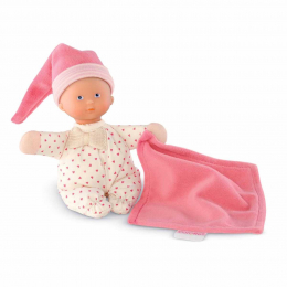 Babicorolle - Doudou mini rêve petits coeurs roses - Corolle