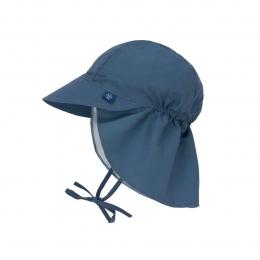 Chapeau casquette de soleil protège nuque Bleu marine Lassig