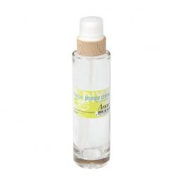 Flacon pompe en verre et bois - 200 ml - Anaé