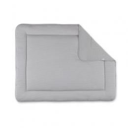 Tapis de sol / parc rayure gris ecru pady twin jersey Bemini