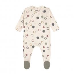 Pyjama bébé GOTS - Cozy Colors, Cercles Écru Lassig