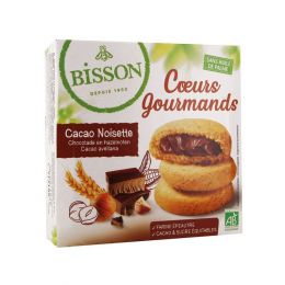 Coeurs gourmands Cacao Noisettes BISSON