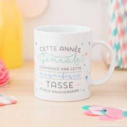 Mug Tasse - Anniversaire - Cette année géniale commence par cette magnifique tasse FR - Mr wonderful