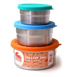 Trio boites en acier - Seal Cup Trio - Ecolunchbox