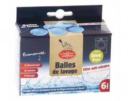 Lot de 6 Balles de lavages anti-calcaire - La droguerie écologique