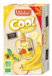 Gourdes de fruits Pomme et banane Vitabio