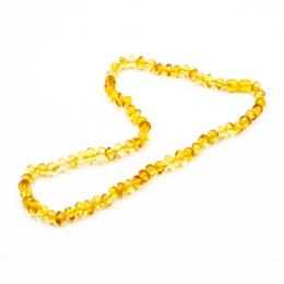 Collier d'ambre - bébé/enfant - Boules citron