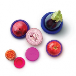 Couvercles en silicone réutilisables - Bright Berry - Food Huggers