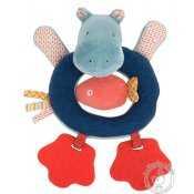 Hochet anneau Hippopotame - Les Papoum - Moulin Roty