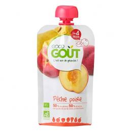 Compote BIO - Purée de fruits -  Pêche poire - GoodGout