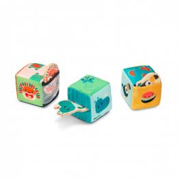 Jeu de 3 cubes Cache cache Jungle Lilliputiens