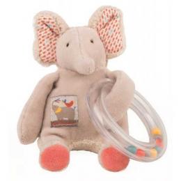 Hochet anneau billes éléphant - Les Papoum - Moulin Roty