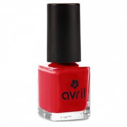 Vernis à ongles rouge Vermillon N° 33 - Avril cosmétique
