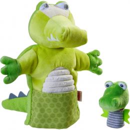 Marionnette Crocodile et son bébé Haba