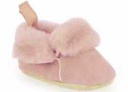 Minion rose or - Chaussons en cuir naturel - Easy peasy