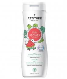 Shampoing et gel nettoyant 2 en 1 Coco et Melon d'eau Attitude