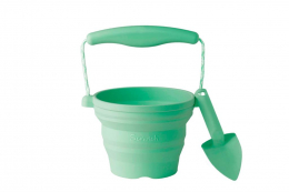 Seau de plage rétractable en silicone Mint Scrunch