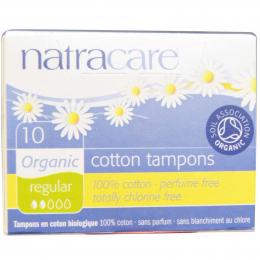 Tampons en coton BIO - Regular - sans applicateur - Natracare