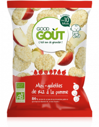 Mini-galettes de riz BIO - Pomme - GoodGout