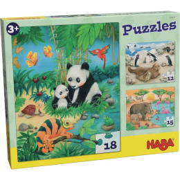Puzzle famille d'animaux - Haba