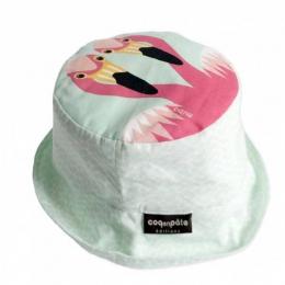 Bob / Chapeau de soleil coton BIO - Flamant rose - Coq en pâte