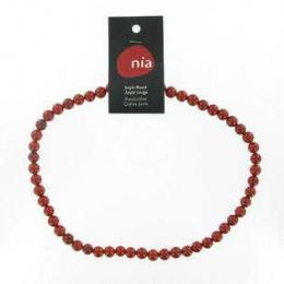 Jaspe rouge - Collier de pierres perles - Nia