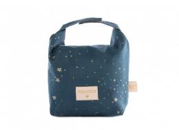 Sac ecolunch bag gold stella/ Night blue Nobodinoz
