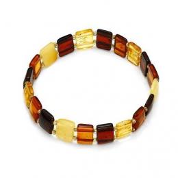 Bracelet d'ambre plat multicolore Adulte
