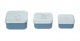Lot de 3 petites boîtes à goûter More Magic Phoque Lassig