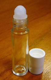 Applicateur à bille en verre blanc roll-on - 10 ml - Bioflore