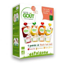 Variété de compotes BIO - Purées de fruits  - GoodGout