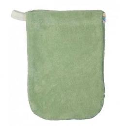 Gant de toilette vert pomme - petit modèle - Popolini