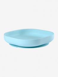 Assiette silicone ventouse bleu ciel Beaba