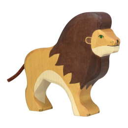 Lion en bois - Holztiger