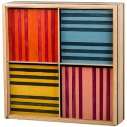 Kapla - coffret de 100 planchettes - 4 couleurs