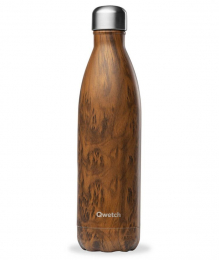 Bouteille Isotherme - 750ml - Bois - Qwetch