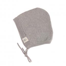 Bonnet tricoté coton bio et soie Garden Explorer gris Lassig