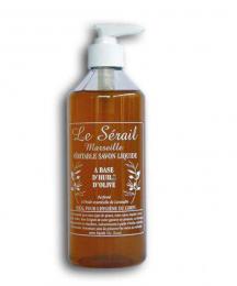 Savon de Marseille liquide à base d'huiles végétales - pompe 500ml - Le serail