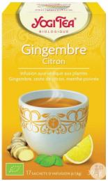 Infusion ayurvédique aux plantes Gingembre citron Yogi Tea