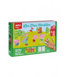 Boite magique stickers les trois petits cochons Apli