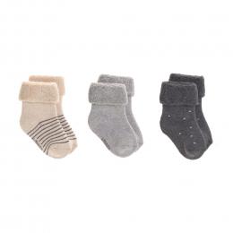 Lot de 3 chaussettes nouveau-né coton Bio Gris - Lassig