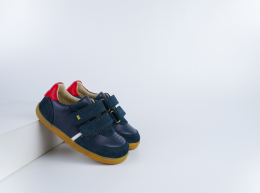 Chaussures Bobux - Step Up - Riley Navy + Red